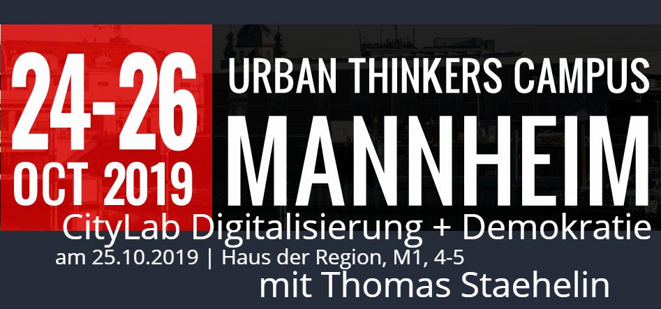 UTC Mannheim CityLab Digitalisierung + Demokratie | Thomas Staehelin