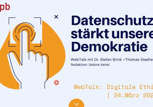 WebTalk Am 24. März 2021 Mit Dr. Stefan Brink Und Thomas Staehelin